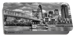 Cruising By Cincinnati 3 Bw Portable Battery Charger