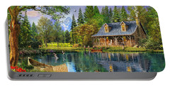 Crystal Lake Cabin Portable Battery Charger