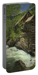 Crystal Mill Portable Battery Charger by Priscilla Burgers