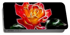 Portable Battery Charger featuring the photograph Crystal Rose by Mariola Bitner