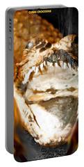 Portable Battery Charger featuring the digital art Cuban Crocodile by Daniel Janda