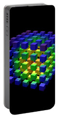 Portable Battery Charger featuring the digital art Cube Of Cubes... by Tim Fillingim