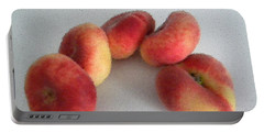 Cubist View Of Peento Peaches Portable Battery Charger by Manuela Constantin