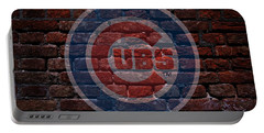 Cubs Baseball Graffiti On Brick  Portable Battery Charger