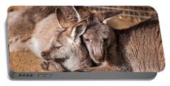 Cuddling Kangaroos Portable Battery Charger
