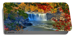 Cumberland Falls In Autumn 2 Portable Battery Charger