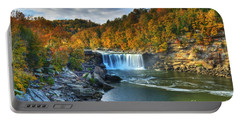 Cumberland Falls In Autumn Portable Battery Charger