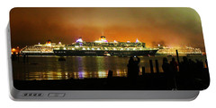Portable Battery Charger featuring the photograph Cunard's 3 Queens by Terri Waters