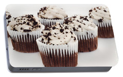 Portable Battery Charger featuring the photograph Chocolate Cupcake Cuties Panorama by Andee Design