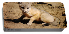 Curious Kit Fox Portable Battery Charger by Meghan at FireBonnet Art