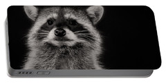 Curious Raccoon Portable Battery Charger by Linda Villers