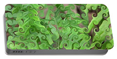 Curly Fronds Portable Battery Charger