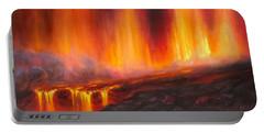Erupting Kilauea Volcano On The Big Island Of Hawaii - Lava Curtain Portable Battery Charger