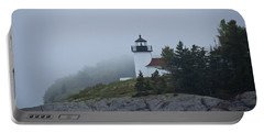 Curtis Island Lighthouse Portable Battery Charger by Daniel Hebard