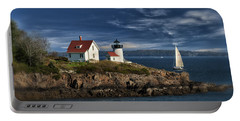 Curtis Island Lighthouse Maine Img 5988 Portable Battery Charger by Greg Kluempers