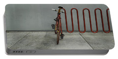 Curved Rack In Red - Urban Parking Stalls Portable Battery Charger