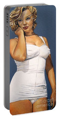 Curvy Beauties - Marilyn Monroe Portable Battery Charger by Malinda  Prudhomme