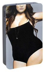 Portable Battery Charger featuring the painting Curvy Beauties - Tara Lynn by Malinda  Prudhomme