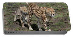 Cute Cheetah Wait For Me Mommy Portable Battery Charger
