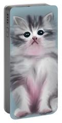 Cute Kitten Portable Battery Charger