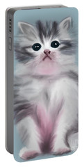 Cute Kitten Portable Battery Charger