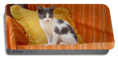 Cute Kitty Portable Battery Charger by Vicki Spindler