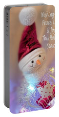 Cutest Snowman Christmas Card Portable Battery Charger