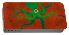 Cycloptopus Red Portable Battery Charger by Stefanie Forck