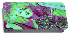 Cyndi Lauper Portable Battery Charger by Catherine Lott