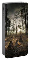 Cypress Stumps And Sunset Fire Portable Battery Charger