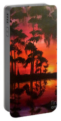 Cypress Swamp At Sunset Portable Battery Charger