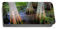 Portable Battery Charger featuring the photograph Cypress Waltz by Karen Wiles
