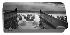 D-day Landing Portable Battery Charger by War Is Hell Store