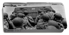 D-day Soldiers In A Higgins Boat  Portable Battery Charger by War Is Hell Store