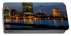 D12u152 Toledo Ohio Skyline Photo Portable Battery Charger