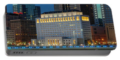 D2l496 Columbus Ohio Night Skyline  Portable Battery Charger