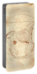 da Vinci Horse in Piaffe Portable Battery Charger