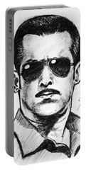 Portable Battery Charger featuring the painting Salman Khan by Salman Ravish