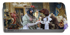 Dachshund Art - Royal Party Portable Battery Charger