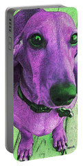 Dachshund - Purple People Greeter Portable Battery Charger