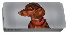 Dachshund Watercolor Painting Portable Battery Charger