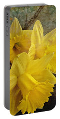 Daffodil Burst Portable Battery Charger by Diane Alexander
