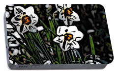 Portable Battery Charger featuring the digital art Daffodil by David Lane