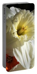 Daffodil Still Life Portable Battery Charger by Kenny Glotfelty