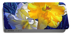 Portable Battery Charger featuring the photograph Daffodils 1 by Pamela Cooper