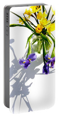 Daffodils And Iris Portable Battery Charger