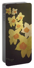 Daffodils Portable Battery Charger by Terry Frederick
