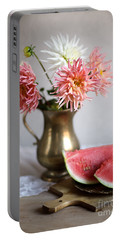 Dahlia And Melon Portable Battery Charger