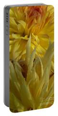 Dahlia Dew Yellow Portable Battery Charger by Susan Garren