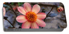 Dahlia First Love Portable Battery Charger